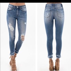 Denim - Distressed Skinny Jean's